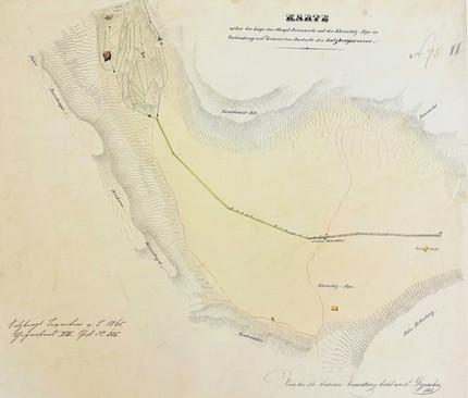 Drainagierung Reinfalz, 1855, Archiv Salinen Austria