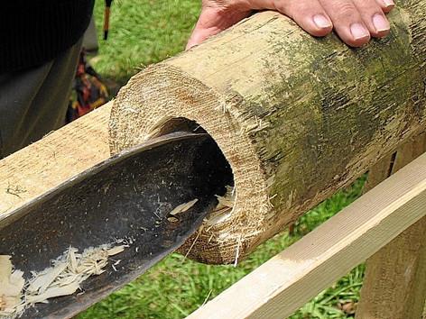 Herstellung von Holzröhren mittels Deichelbohrer, Internet