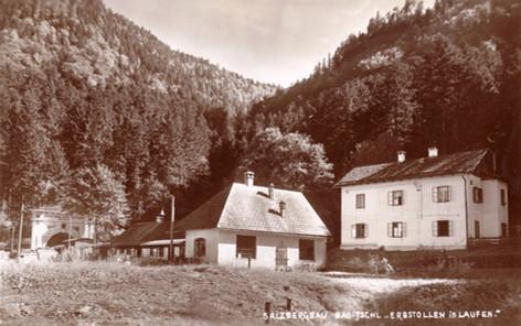 Kaiser Franz Josef – Erbstollen, Taggebäude, um 1930, Archiv Salinen Austria