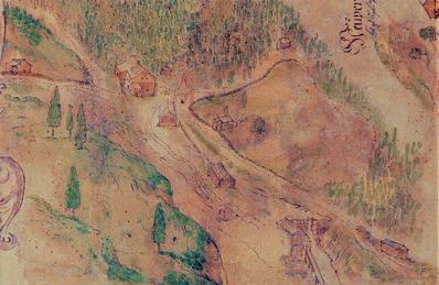 Situation Steinberg, 1716, Wibner, Archiv Salinen Austria