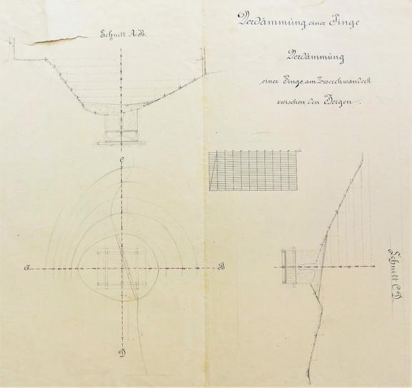 Einbruchspinge Reinfalz, Verdämmung, Archiv Salinen Austria
