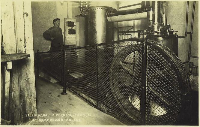 Kaiser Leopold - Stollen, Distler - Schacht, Kompressor, um 1930, Archiv Nussbaumer