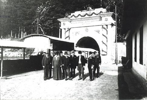 "Kaiser Franz Josef – Erbstollen, Eröffnungsfeier, 1898, aus Lipp ""Ischler Blätter"""