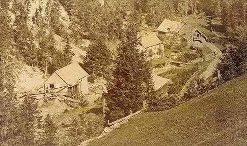 Solestuben in der Au, Perneck, um 1860, Archiv ÖSAG