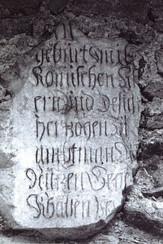 Gedenkstein in Stollenhütte, 1974, Archiv Salinen Austria