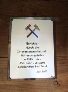 Gedenktafel IGM, 11.2014, Archiv Kranabitl