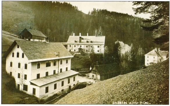 """Kaiserin Maria Theresia – Stollen, Berggebäude, um 1930, aus Mannert """"Ischl den Ischlern"""""""