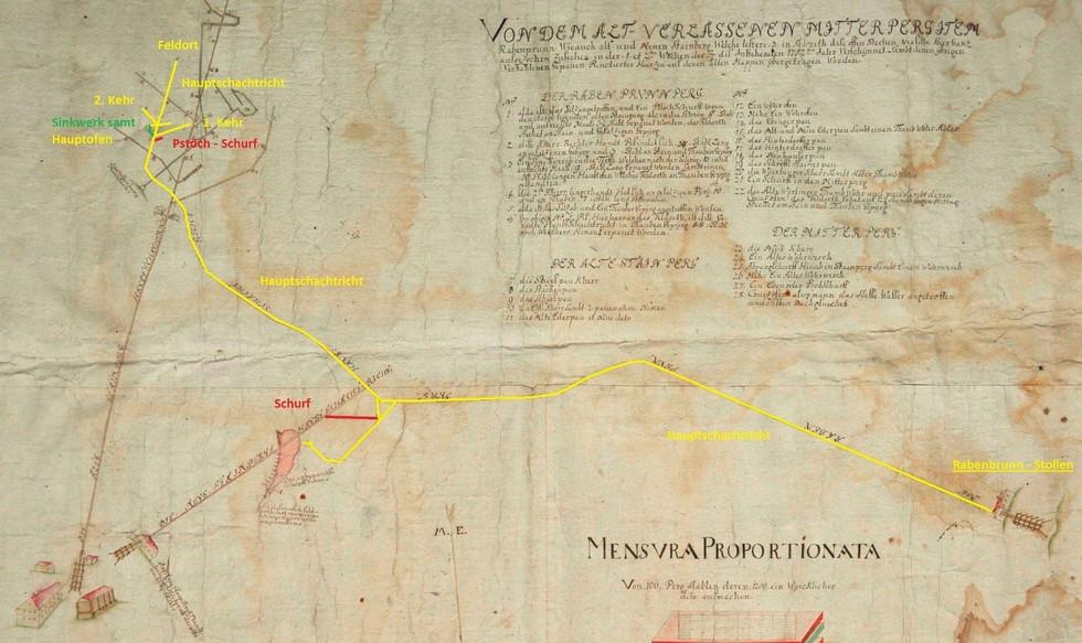 Strecken, 1757, Solinger, Archiv Salinen Austria