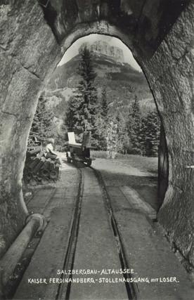 Bruchsteinausmauerung, Salzbergbau Altaussee, um 1930