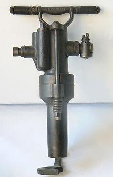 Handbohrhammer, Firma Flottmann, um 1905, Internet