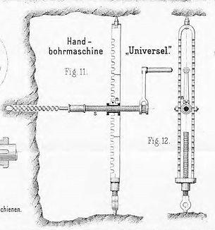 Handbohrmaschine System Reska, Carl Schedl, 1889