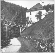 "Kaiserin Maria Theresia – Stollen, Beamtenhaus, um 1910, aus Lipp ""Ischler Blätter"""
