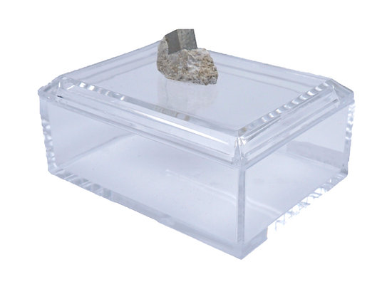 Geode Acrylic Box 6x4 Pyrite Cube