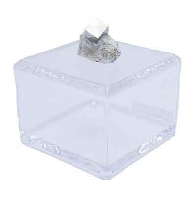 Geode Acrylic Box 4x4 Pyrite Cube