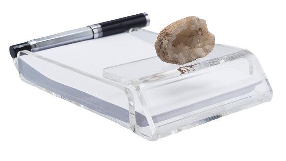 Geode Acrylic Stationary w/ Pen Holder Druzy