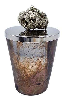 12 oz Rustic Geode Pyrite Cluster