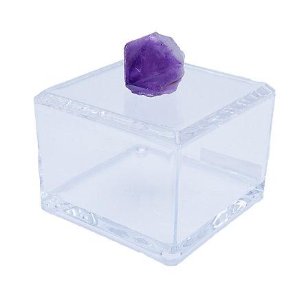 Geode Acrylic Box 4x4 Amethyst