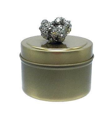 4 oz Pyrite Cluster Tin