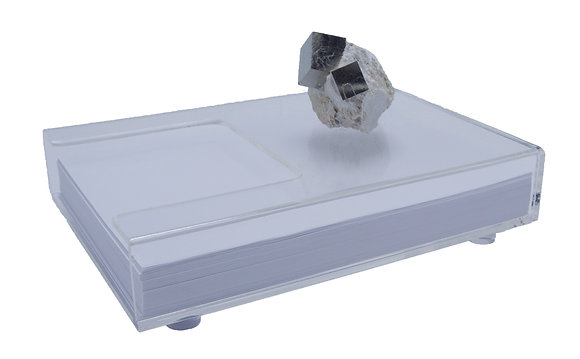 Geode Standing Acrylic Stationary Holder Pyrite Cube