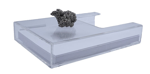 Geode Standing Acrylic Stationary Holder Pyrite Cluster