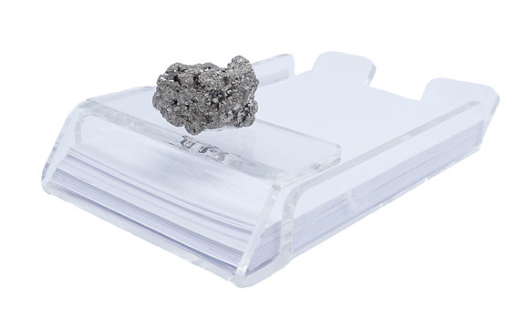 Geode Acrylic Stationary Holder Pyrite Cluster