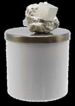 26 oz Grande Geode Pyrite Cube