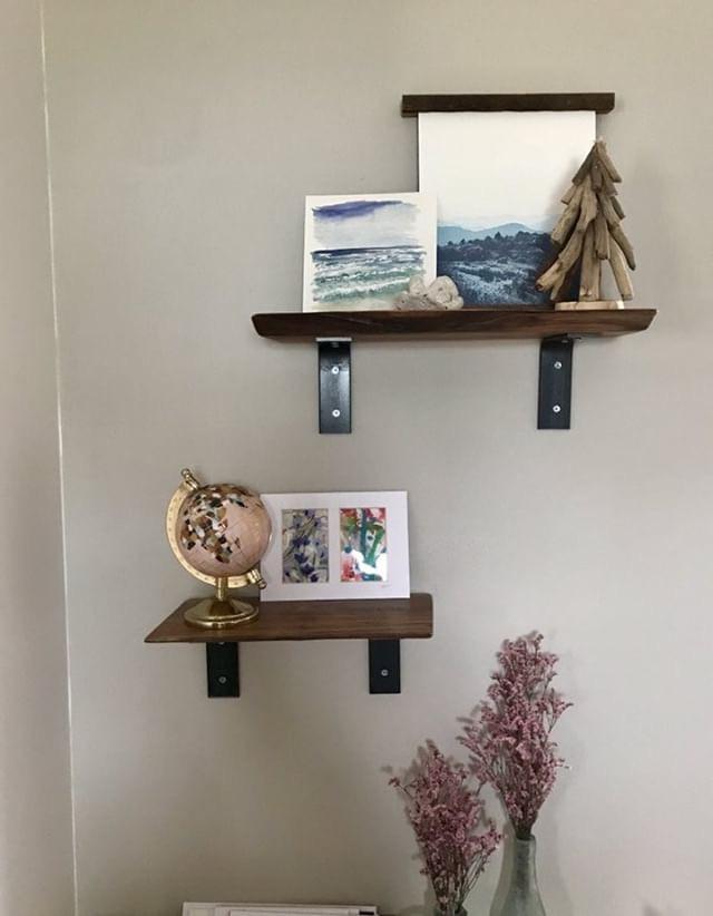 Live Edge Walnut Shelves