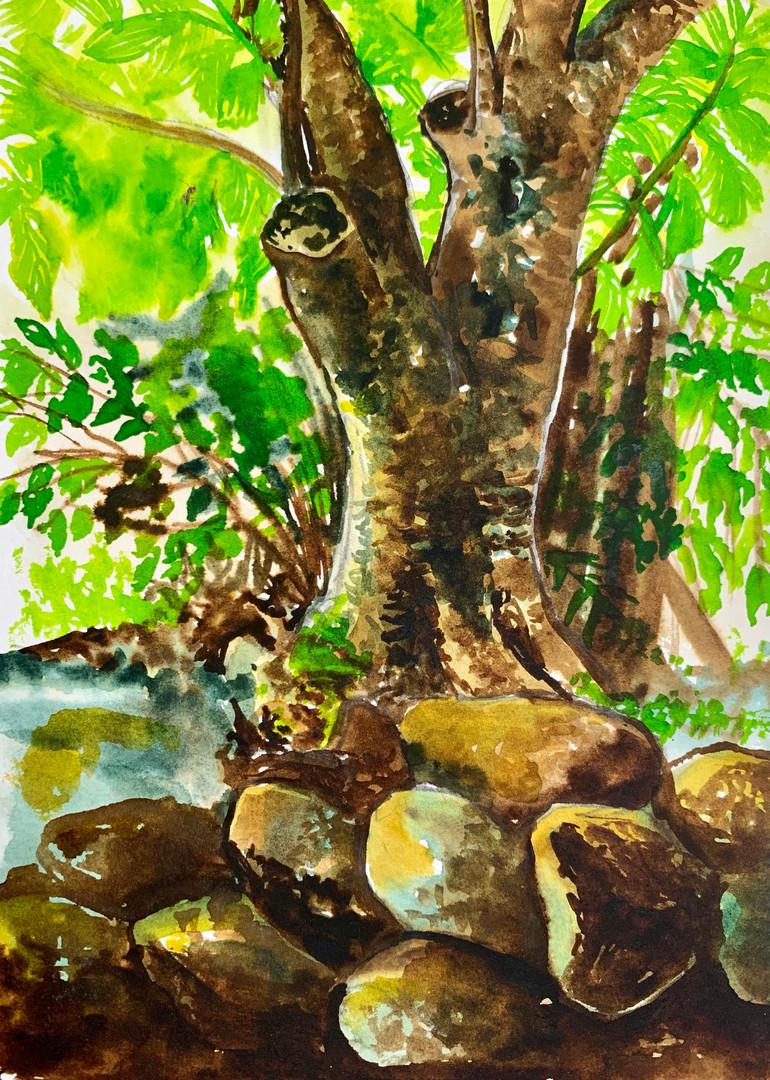 Journal Sketch in watercolours
