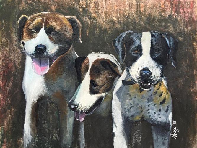 Farm dogs  Private Commission