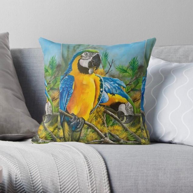 Macaw design pillow