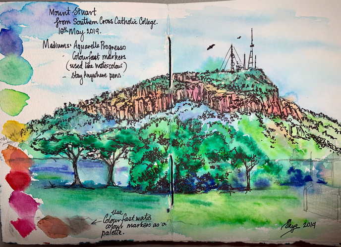 Mount Stuart - Townsville - Journal Sket