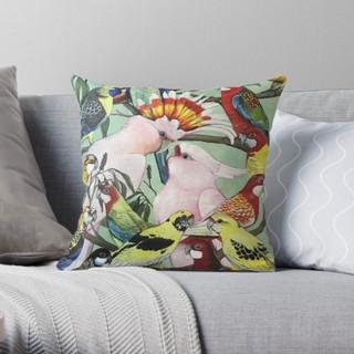 Parrot design #1 into pillows