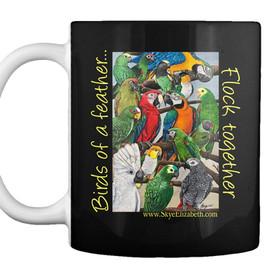 Parrot design #2 on mug