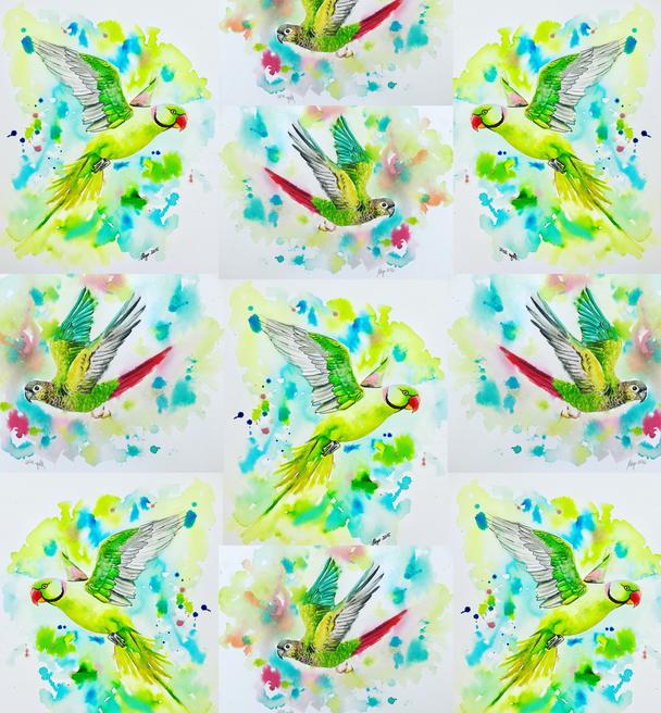 Alexandrine Tiled pattern