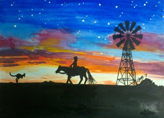 Watercolour horizon