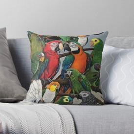 Macaw design #2 pillow