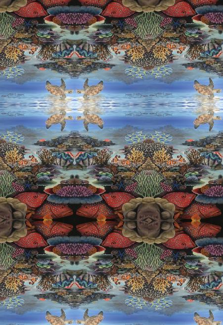Great Barrier Reef Tiled pattern