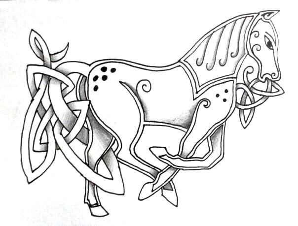Celtic Horse design