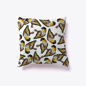 Caique parakeet pillow design