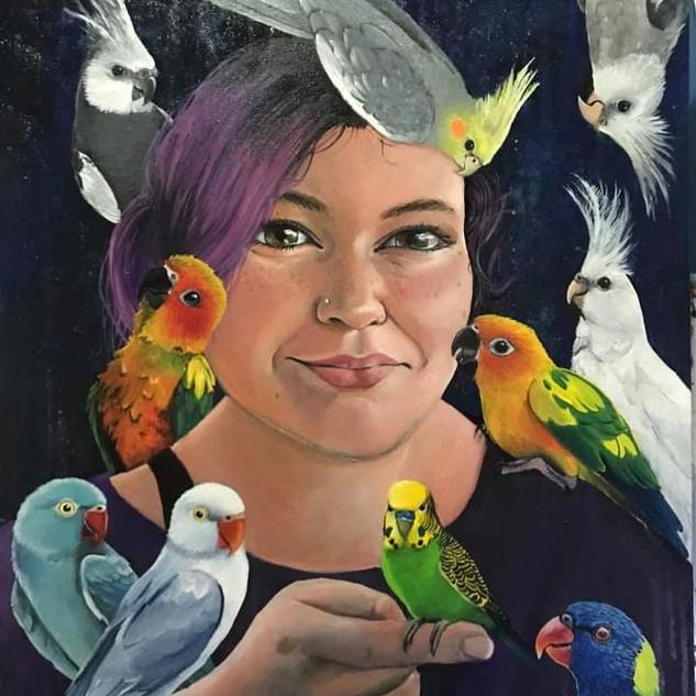 Portrait with Birds