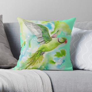 Alexandrine watercolour pillow