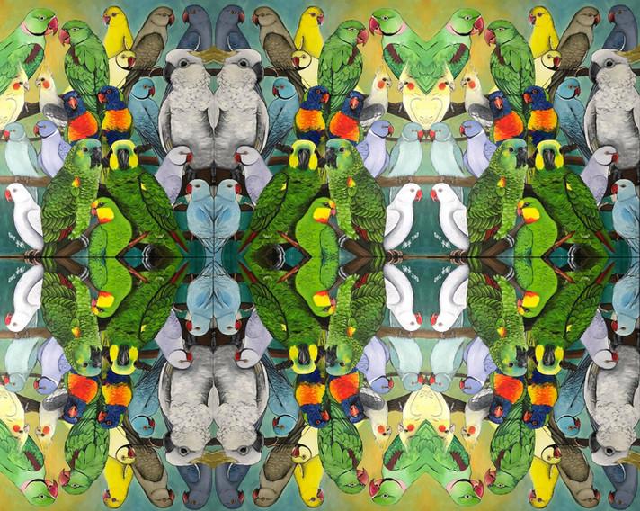Pet Birds Tiled pattern