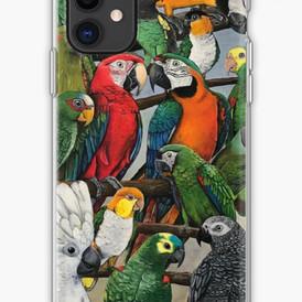 Parrot design #2 on phone case