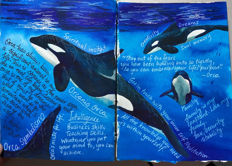Journal page  - Orcas