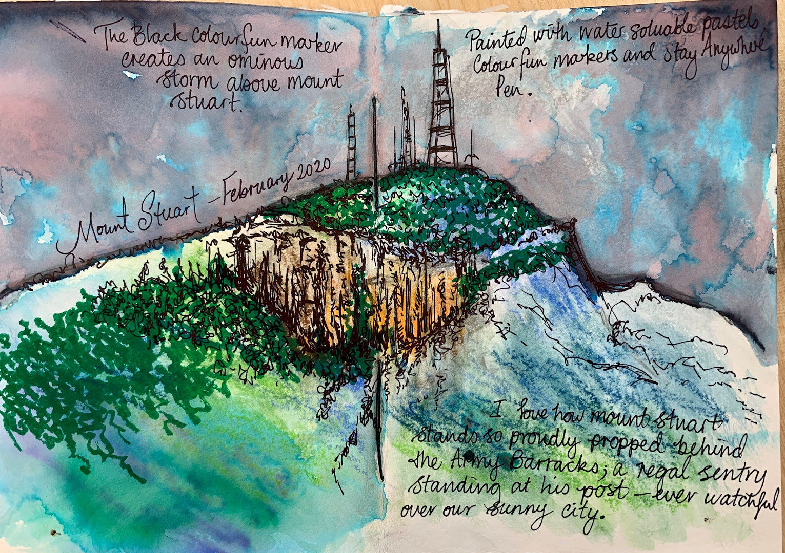 Journal Sketch - Mount Stuart