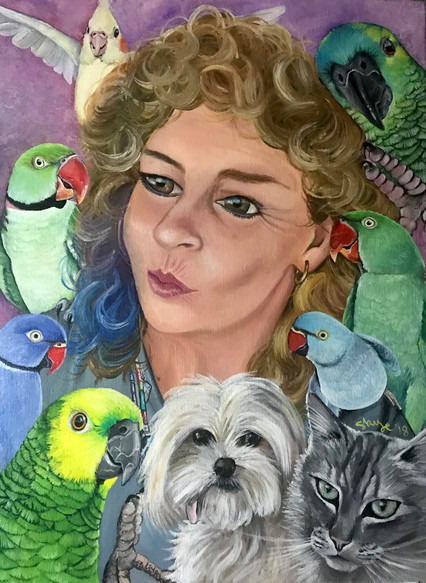 Julia and her Feather and Furr Babies
