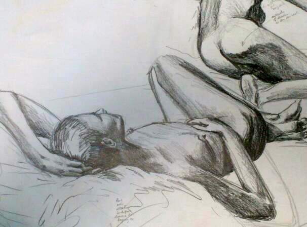 Life drawing in graphite