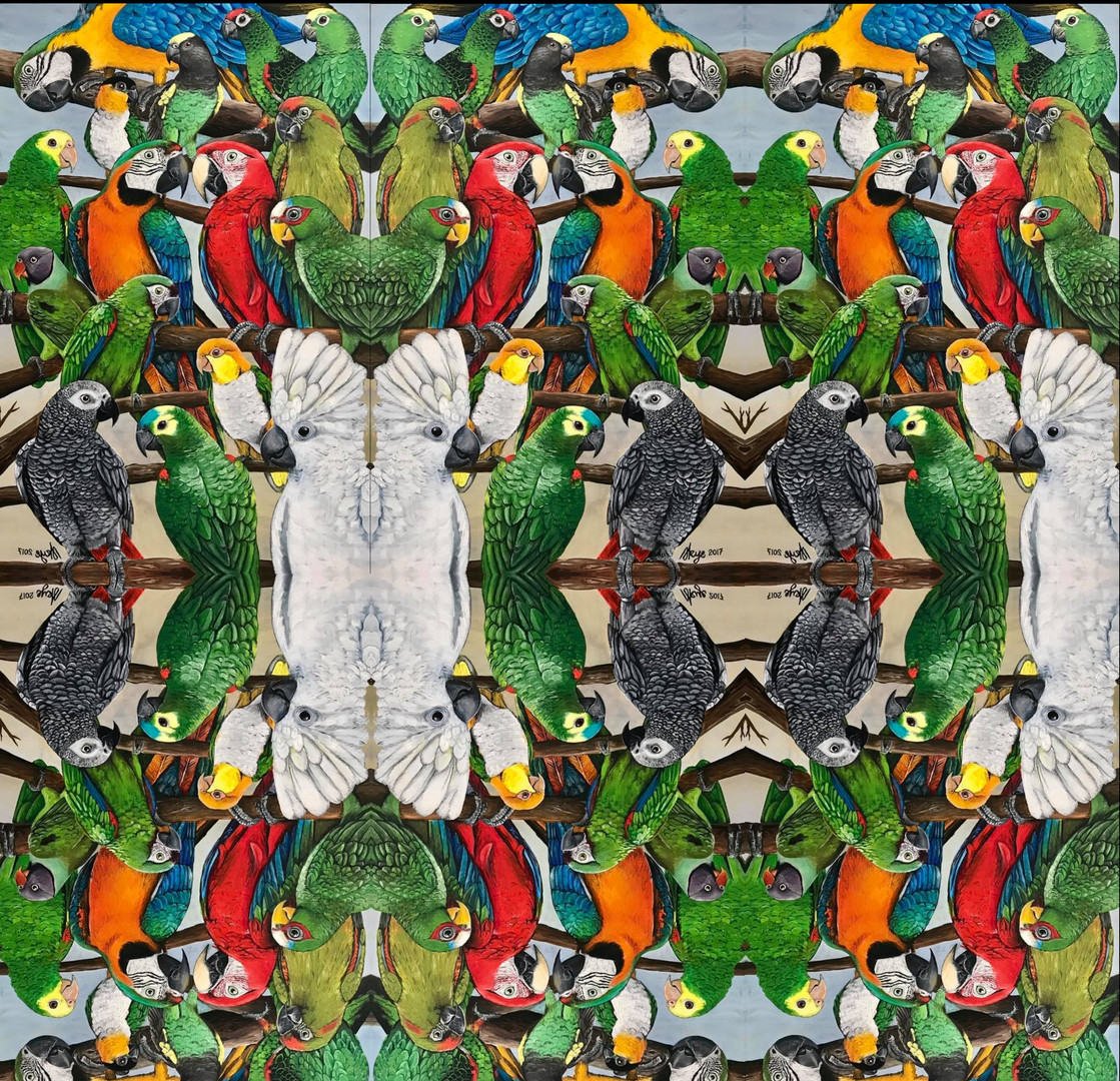 Exotic Parrots Tiled pattern