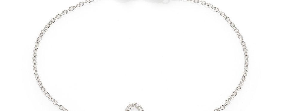 Bracciale farfalla in oro bianco e diamanti bianchi