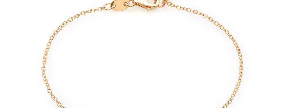Bracciale in oro rosa e diamanti bianchi naturali